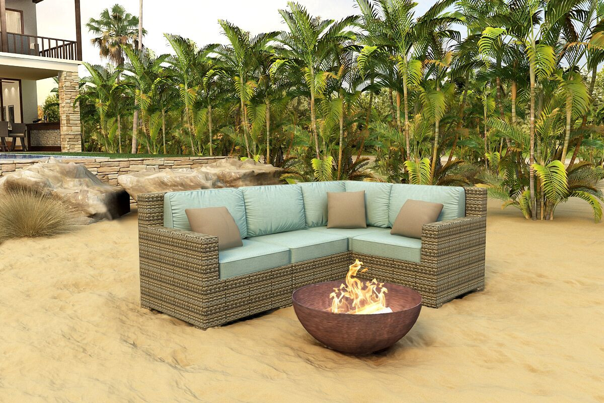 Forever Patio Hampton 4 Piece Wicker Sectional Set By Northcape