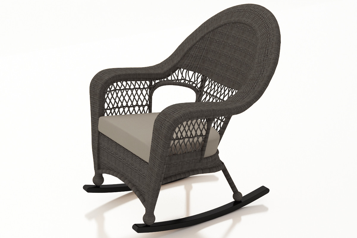 Peachy Forever Patio Catalina Wicker High Back Rocker By Northcape International Machost Co Dining Chair Design Ideas Machostcouk