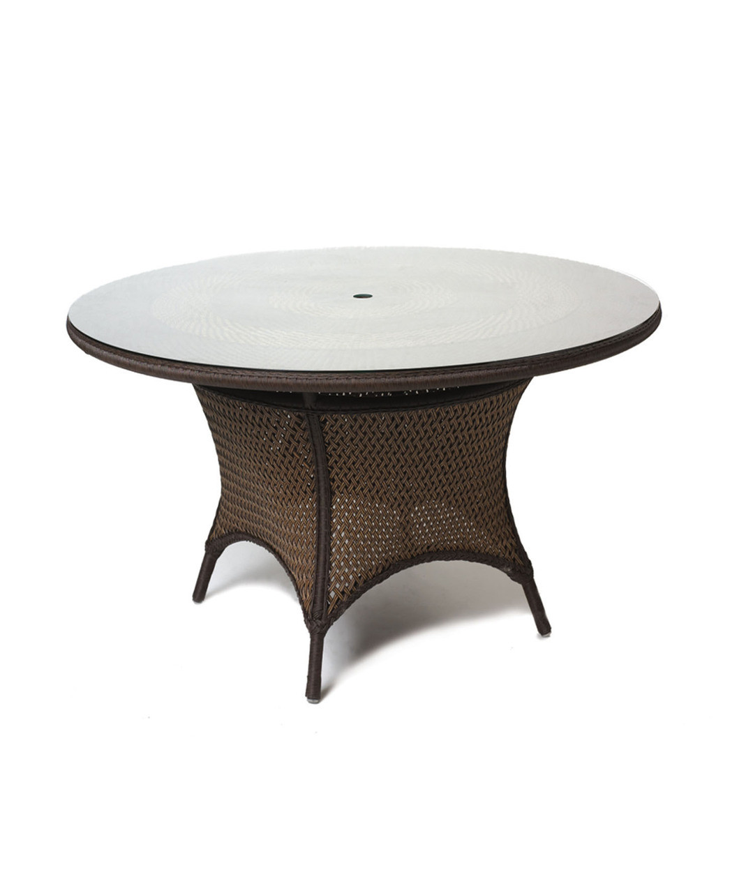 Stupendous Lloyd Flanders Grand Traverse 48 Inch Round Wicker Umbrella Dining Table With Lay On Glass Download Free Architecture Designs Photstoregrimeyleaguecom