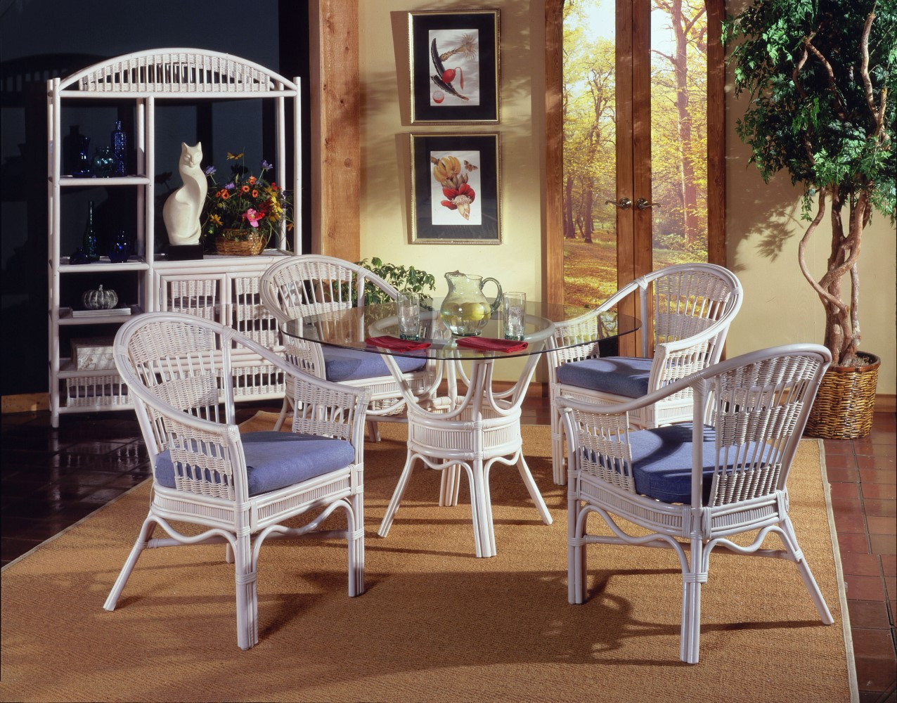 South Sea Rattan Bermuda Indoor Dining Room Set With