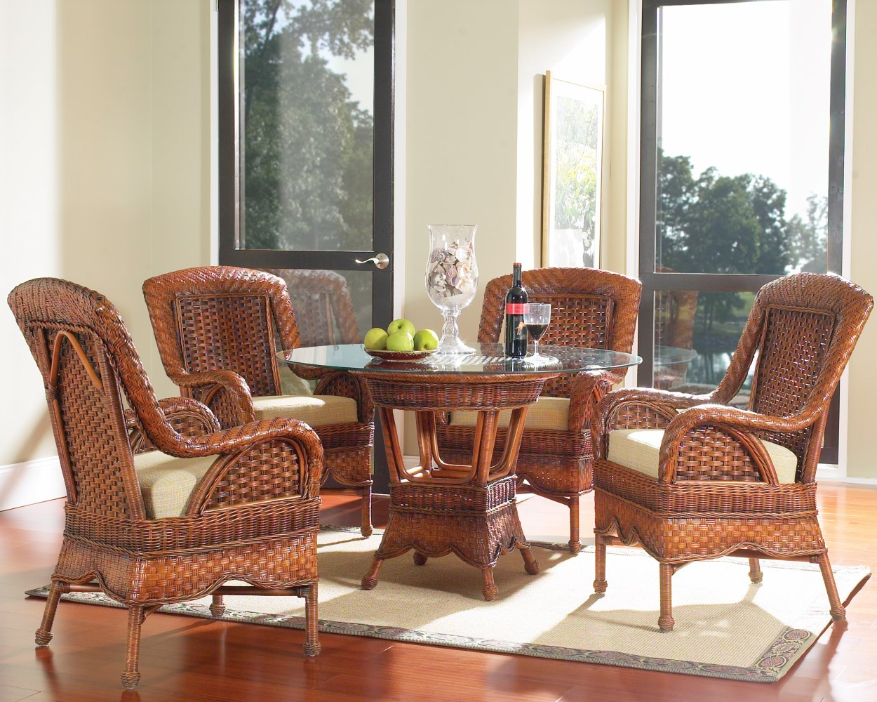 South Sea Rattan Autumn Morning Indoor Wicker Dining Room