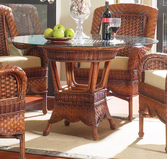 South Sea Rattan Autumn Morning Indoor Wicker Dining Table With Size Options