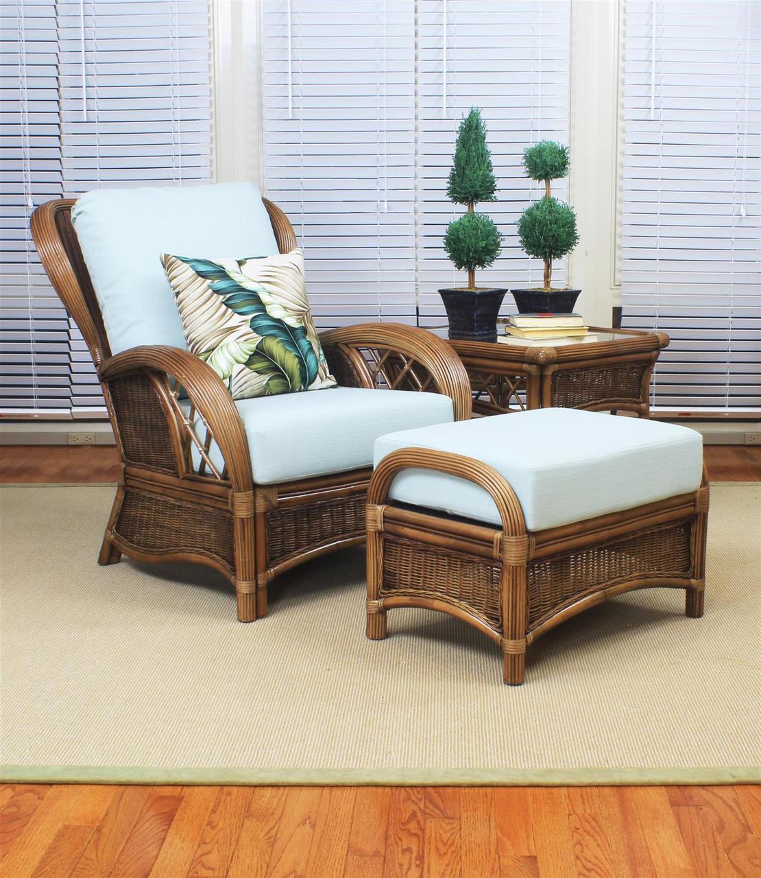 South sea rattan bali indoor wicker lounge chair set modern wicker llc