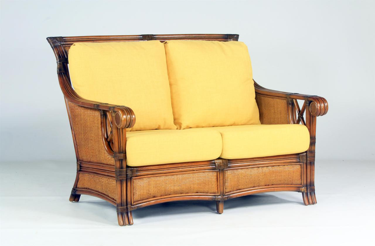 Awesome South Sea Rattan Pacifica Indoor Wicker Loveseat Short Links Chair Design For Home Short Linksinfo
