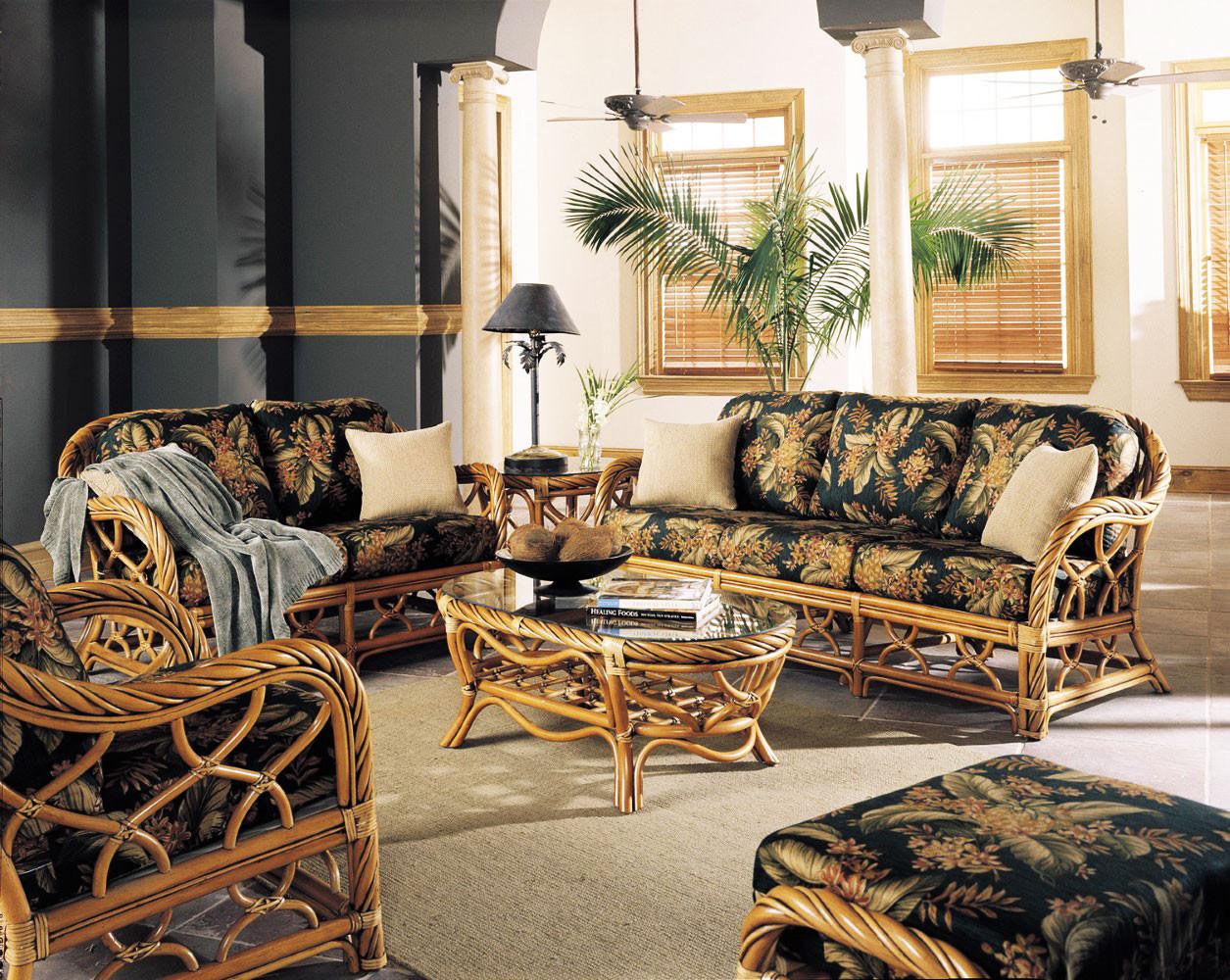 South Sea Rattan New Twist 6 Piece Indoor Living Room Set