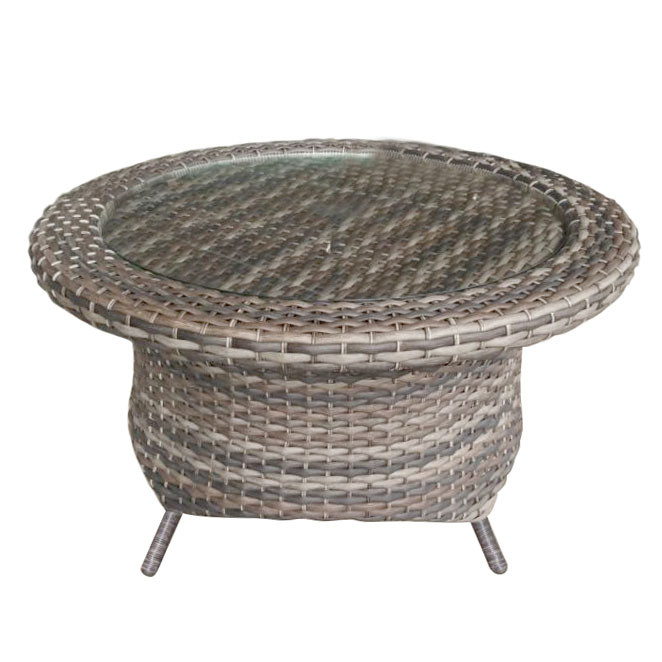 Superb Forever Patio Aberdeen Round Wicker Rotating Chat Table With Glass By Northcape International Download Free Architecture Designs Photstoregrimeyleaguecom