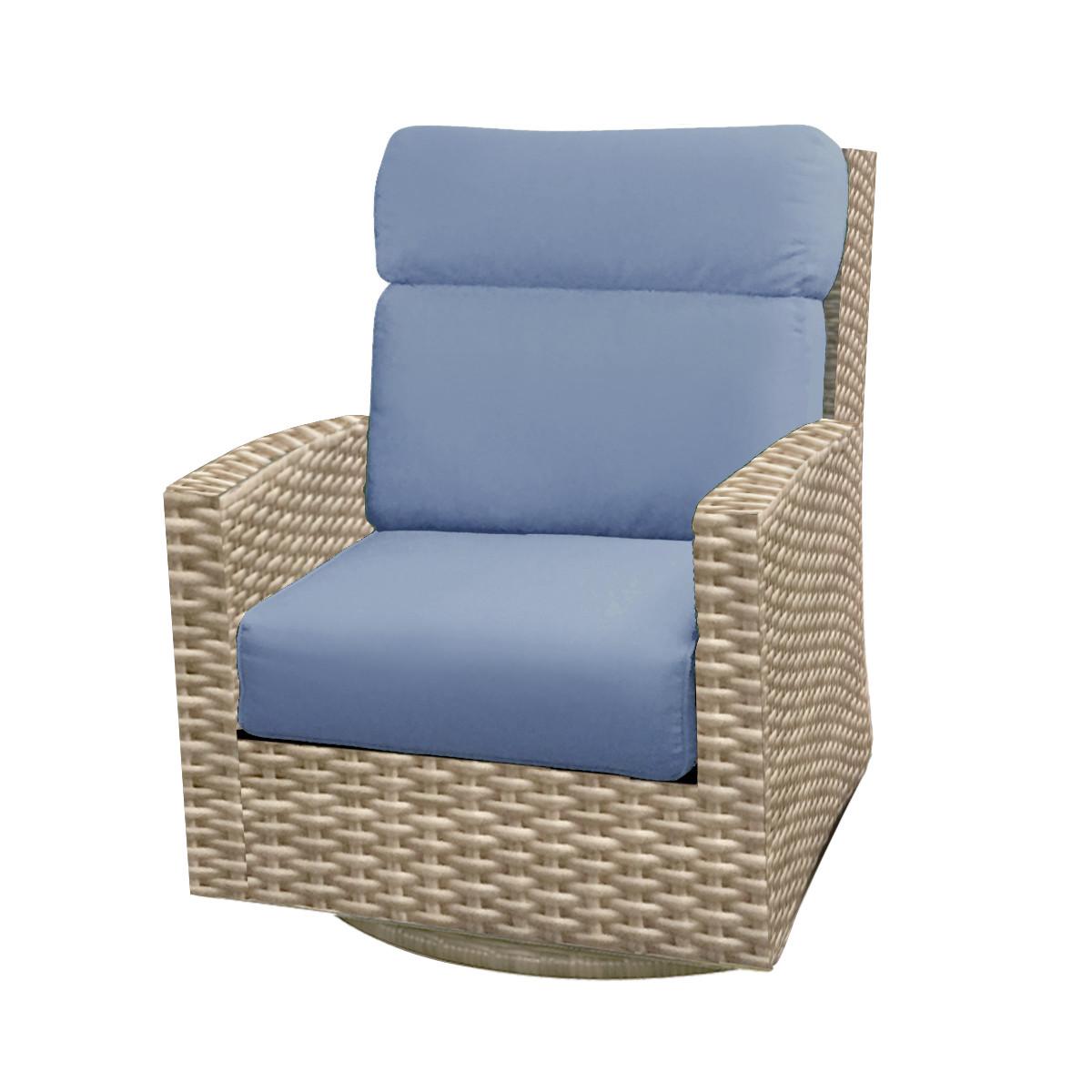 Sensational Forever Patio Cavalier Wicker High Back Swivel Rocker Chair By Northcape International Machost Co Dining Chair Design Ideas Machostcouk