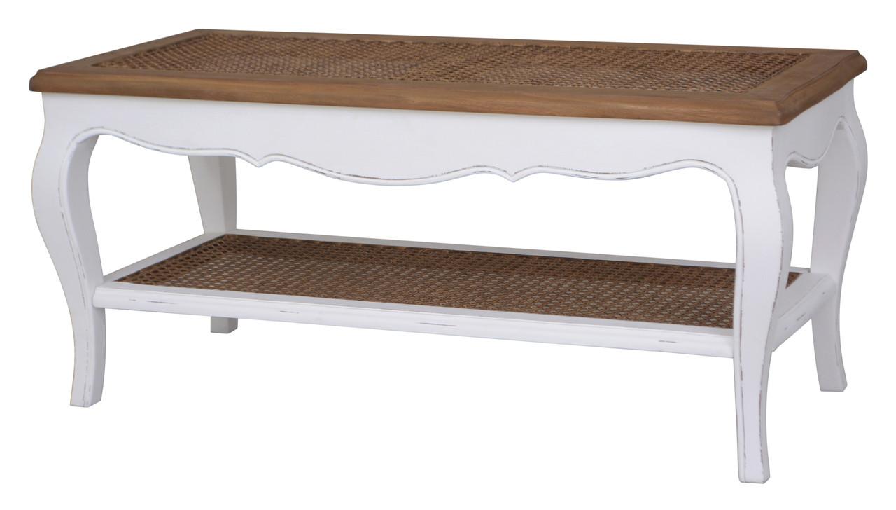 International Caravan Ashbury Stradivarius Coffee Table Modern Wicker Llc
