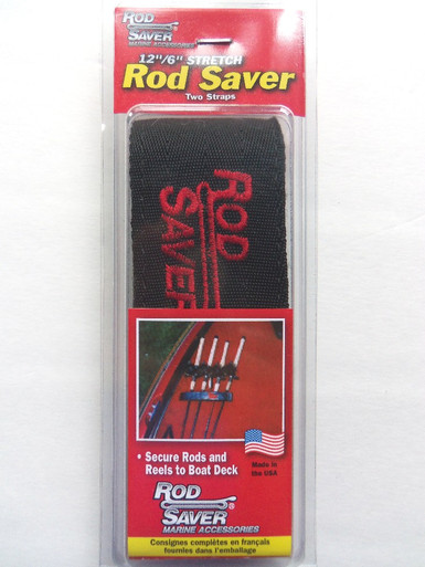 """Original Rod Saver - Rod Saver 12/6PM - Pro Model Stretch - 2 Straps Incl 12"""" & 6"""" - Holds up to 7 Rods - View 1"""