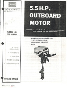 Eska Sears Ted Williams Owner's Manual - Model 217-585710