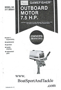 Eska Sears Gamefisher Ted Williams Owner's Manual - Model 217-585841