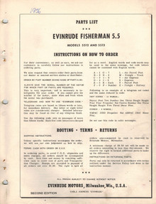 Parts List - Model 5512 and 5513 - 1956 Evinrude Fisherman 5.5 hp