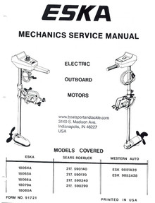 Mechanic's Service Manual - Electric Outboard Motors