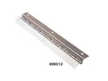 "Aluminum Hinge - Wise WD12 - Offset Piano Style - 11"" long x 2"" wide X .75"""