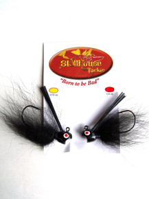 Stillhouse Tackle Tony Bean's Fly Jig - Choice of 6 Colors and 2 Sizes - Pack of 2 - Black
