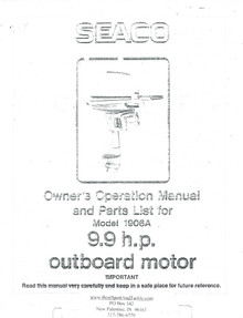 Eska Seaco Owner's Manual - Model 1906A