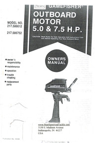 Eska Sears Gamefisher Ted Williams Owner's Manual - Model 217-586752