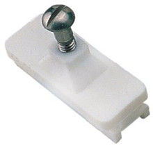 Bimini Deck Hinge Fitting - SeaDog 273261-1 - Side Mount Slide - White - Sold in Pairs - View 1
