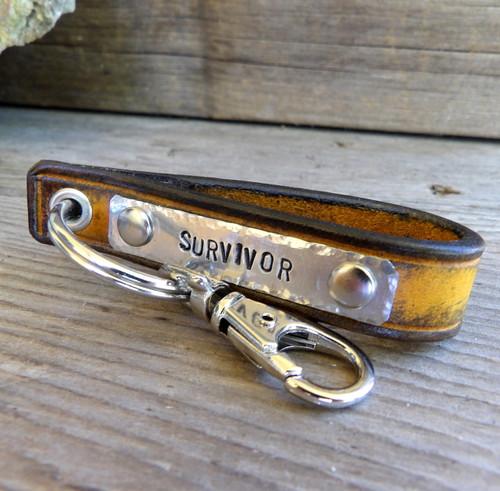 Survivor Leather Key Chain