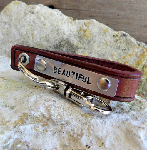 Personalizable Leather Keychain-Beautiful