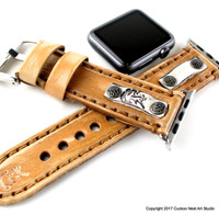 Leather Apple Watch Strap in Light Brown