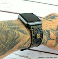 Camouflage Leather Apple Watch Strap