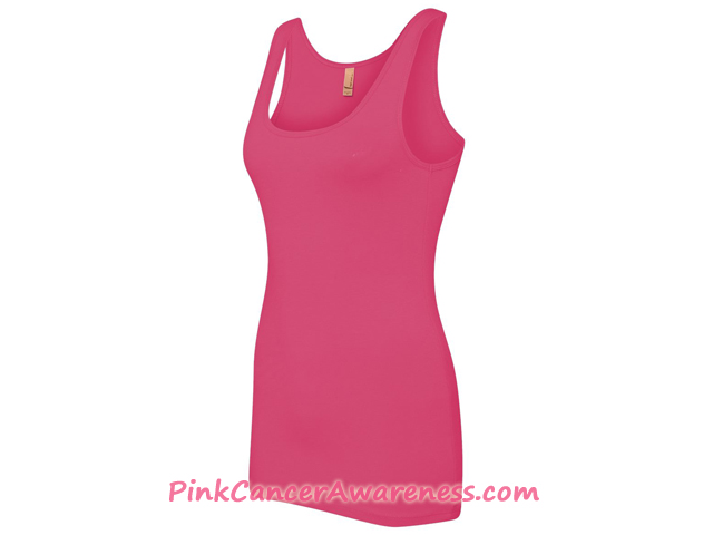 Ladies' The Jersey Tank - Pink Side View