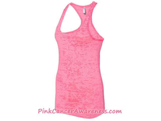 Ladies' Meegs Eco-Jersey Racerback Tank -  Pink Side View