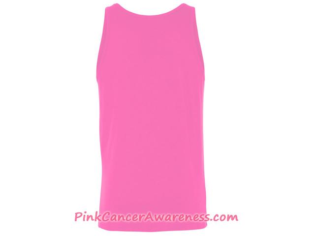 Unisex Jersey Tank - Pink Back View