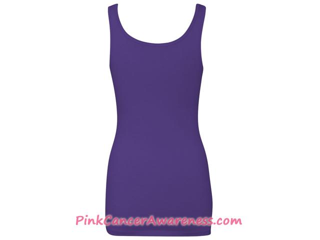 Ladies' The Jersey Tank - Purple Back View
