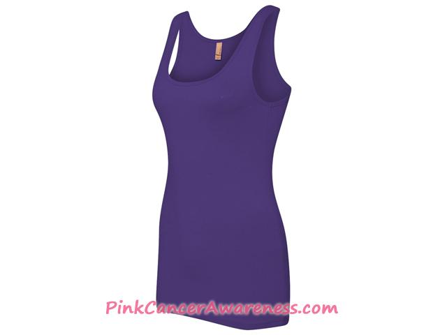 Ladies' The Jersey Tank - Purple Side View