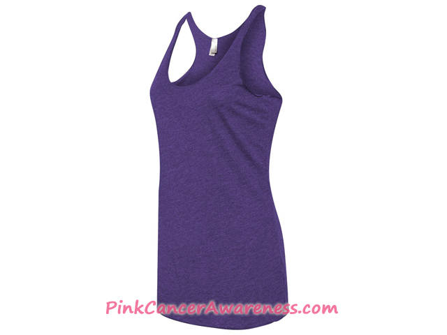 Ladies' Triblend Racerback Tank - Purple Side View