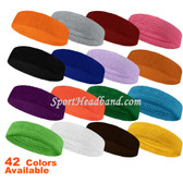 Plain Standard Terry Cloth Sport Headband for Sweat(Many Colors)