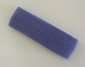 Lavender terry sport headband for sweat
