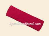 Hot pink terry sport headband for sweat