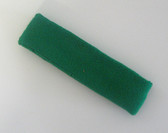 Green terry sport headband for sweat