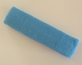 Sky blue terry sport headband for sweat