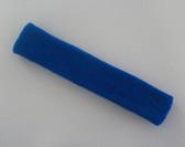 Blue long sport headband terry cloth for sweat