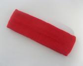 Large red sports sweat headband pro
