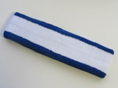White with blue trim headbands sports pro