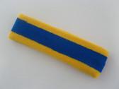 Blue with yellow trim headbands sports pro