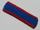 Blue with red trim headbands sports pro
