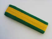 Yellow with green trim headbands sports pro