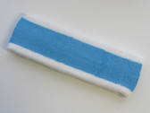 Bright skye blue with white trim headbands sports pro