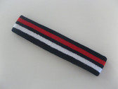 Navy with white red striped headband sports pro