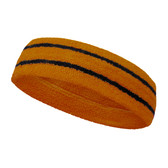 Tan basketball headband pro with 2 black stripes