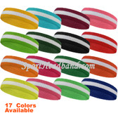 White in the Middle Striped Terry Sweat Sport athlete Head Sweatband