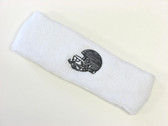 White custom sport sweat head band terry
