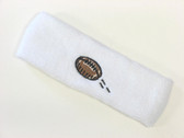 White custom terry head band sports sweat