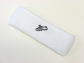 White custom sport sweat headband terry
